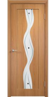 Дверь МДФ - Вираж ПО (Миланский орех)