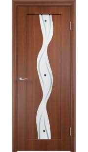 Дверь МДФ - Вираж ПО (Итальянский орех)