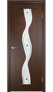 Дверь МДФ - Вираж ПО (Венге)