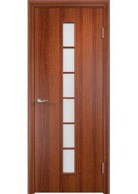 Дверь МДФ - С12 ПО (Итальянский орех)