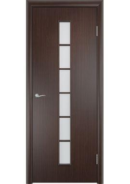 Дверь МДФ - С12 ПО (Венге)