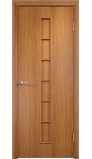 Дверь МДФ - С12 ПГ (Миланский орех)