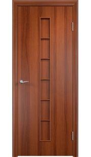 Дверь МДФ - С12 ПГ (Итальянский орех)