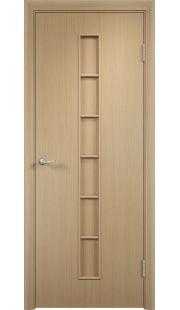 Дверь МДФ - С12 ПГ (Беленый дуб)