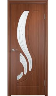 Дверь МДФ - Лиана ПО (Итальянский орех)