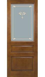 Двери из массива сосны - г.Поставы ПМЦ ДГ №5 (коньяк)