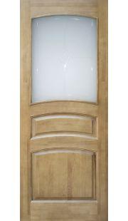 Двери из массива сосны - г.Поставы ПМЦ ДО №16 (светлый лак)
